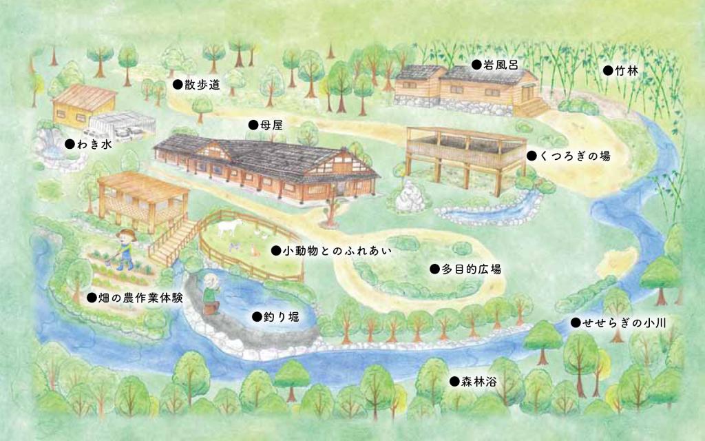 イメージ:ひうらの里の施設マップ・図面