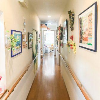イメージ:廊下の施設マップ・図面