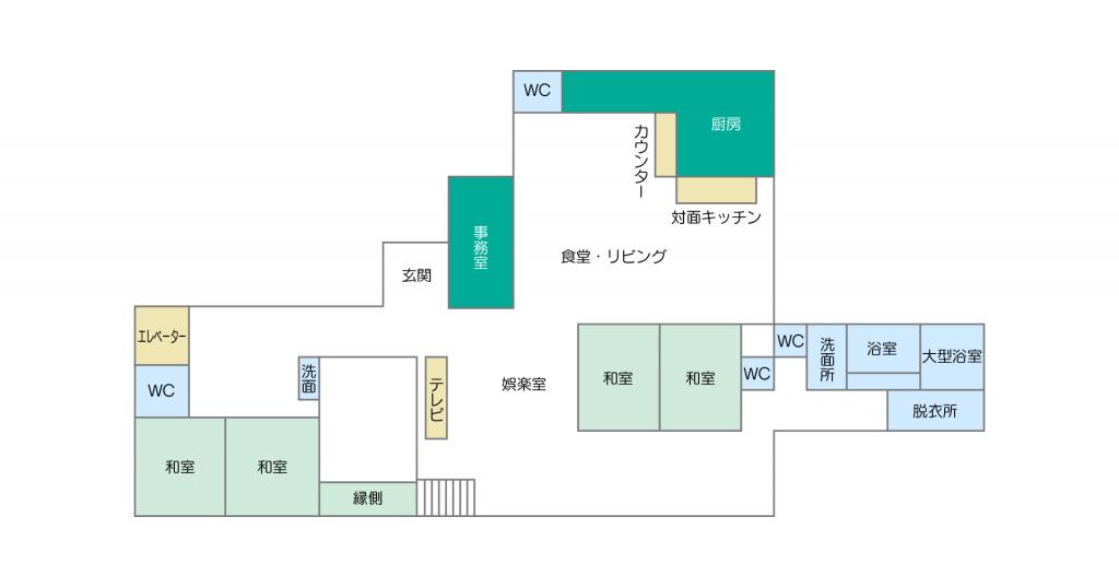 イメージ:すずらん通り(小規模多機能)の施設マップ・図面