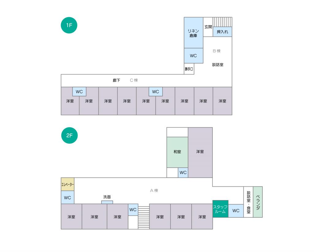 イメージ:和家すずらんの施設マップ・図面